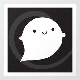 Spooky Wooky Ghost Art Print