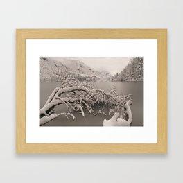 Frozen Lake Bohinj Framed Art Print