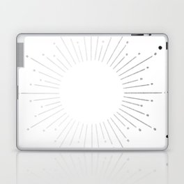 Sunburst Moonlight Silver on White Laptop & iPad Skin