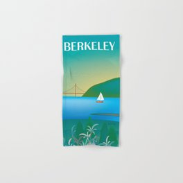 Berkeley, California - Skyline Illustration by Loose Petals Hand & Bath Towel