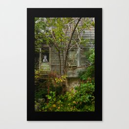 Boy with his cat Canvas Print