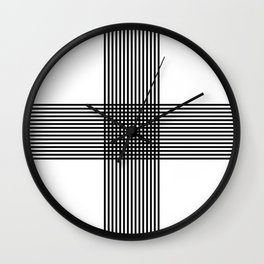 """"""" Pattern Collection """" - Geometric Cross Lines Wall Clock"""