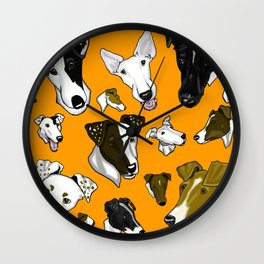 Smooth Fox Terrier - Orange Wall Clock
