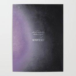 wander {violet Poster