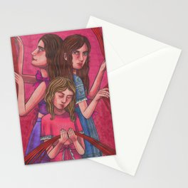 Clock Sisters (Moirai) Stationery Cards