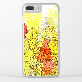 Gold autumn. Clear iPhone Case