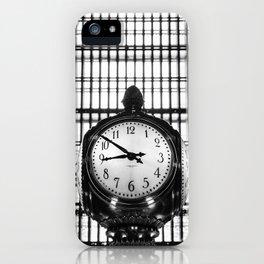 Clock in Grand Central Terminal iPhone Case