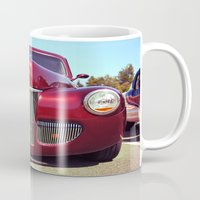 burgundy Mugs featuring Burgundy beauty by Vorona Photography