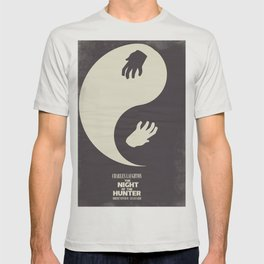 The night of the hunter, minimal movie poster (Robert Mitchum, Charles Laughton) classic Hollywood T-shirt
