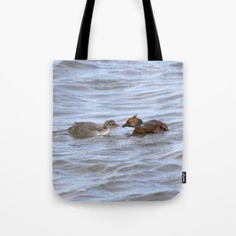 Watercolor Bird, Horned Grebe 02, Lake Myvatn, Iceland Tote Bag