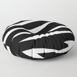 Abstract black & white Lines Stripes Pattern - Mix and Match with Simplicity of Life Floor Pillow