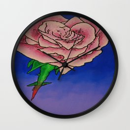 Every Rose has Thorns Wall Clock