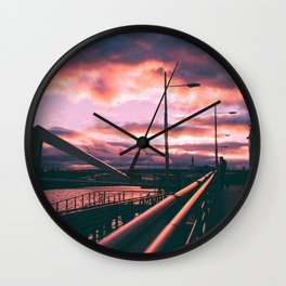 Clyde Side Nights. Wall Clock