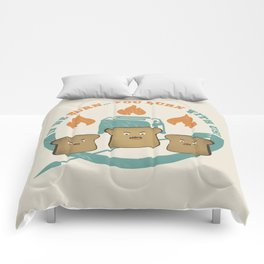 The Toast On Fire Comforters