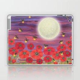 purple sky, fireflies, snails, and poppies Laptop & iPad Skin