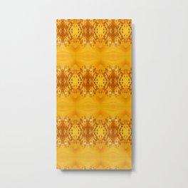 Golden Hibiscus Abstract Pattern Metal Print