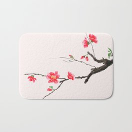 red Japan begonia Bath Mat