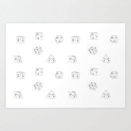 D&D Dungeon Master Pattern Art Print
