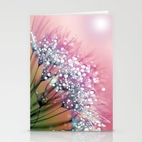 dandelion Stationery Cards featuring rainbow dandelion by Joke Vermeer