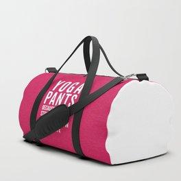 Yoga Pants Stressful Funny Quote Duffle Bag