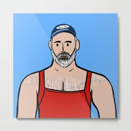 Beard Boy: Willis Metal Print