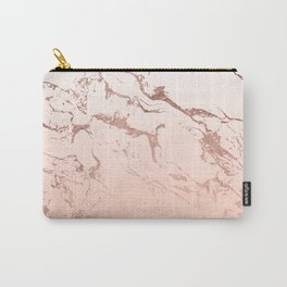 Pink blush white ombre gradient rose gold marble pattern Tasche