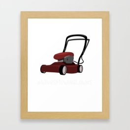 Mowing Lawns Wives Mowing Lawns Framed Art Print