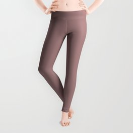 Pale Brown Earthy Neutrals - Solid Color Trend Fall Winter - Mid Century Modern Leggings