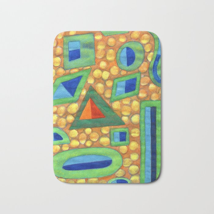 Collection of different Shapes with Double Fillings Bath Mat
