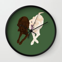 Labradors Wall Clock