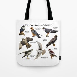 Falcons of the World Tote Bag