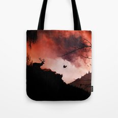 Dramatic cloudy scenery Tote Bag