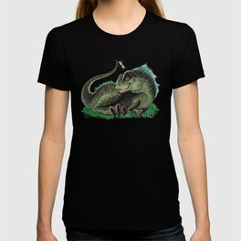 """Pinfeathers"" by Amber Marine ~ T-Rex Dinosaur Watercolor illustration, (Copyright 2016) T-shirt"
