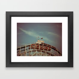 Coney Island Cyclone Framed Art Print