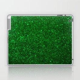 Christmas Evergreen Green Sparkly Glitter Laptop & iPad Skin
