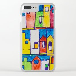 Rainbow Terraces Clear iPhone Case
