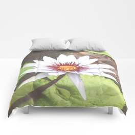 White Water Lily Photography Comforters