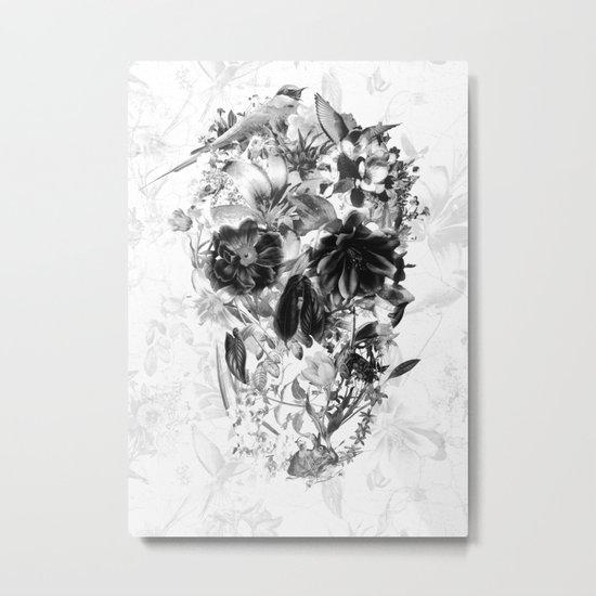 New Skull Light B&W Metal Print
