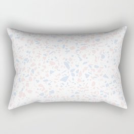 'Speckle Party' Lilac + Pink Dots Speckle Terrazzo Pattern Rectangular Pillow