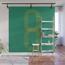 Eight track - runners never quit Wall Mural