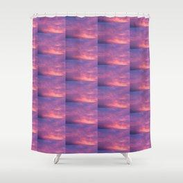 Peach & Violet Blaze Shower Curtain