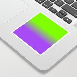 Neon Purple and Neon Green Ombré  Shade Color Fade Sticker