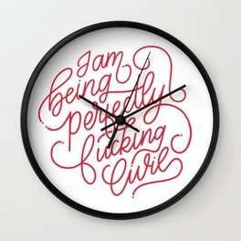Perfectly Civil Wall Clock