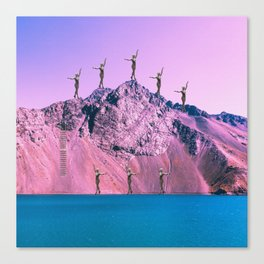 Pink Planet Canvas Print