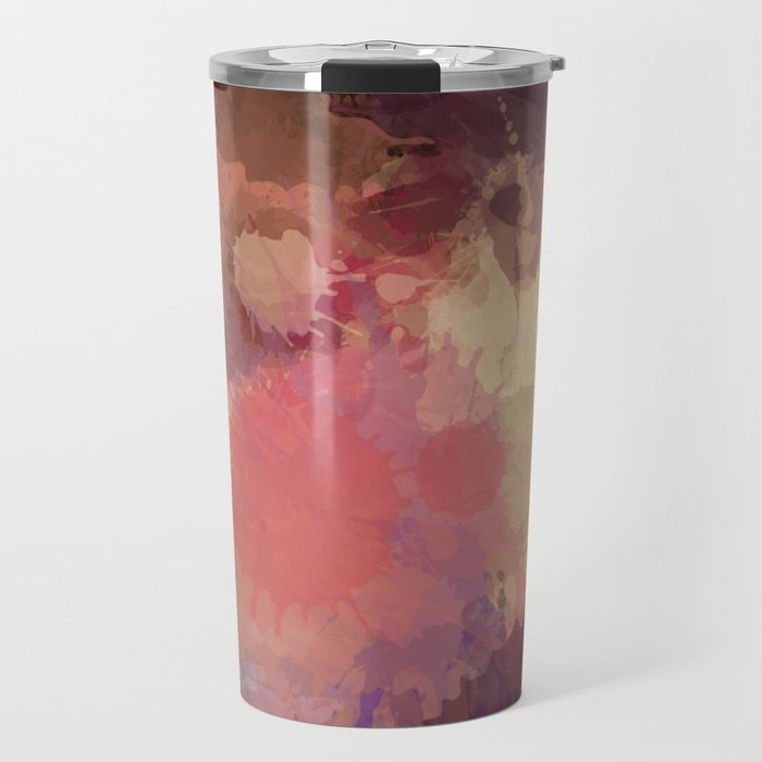Modern Contemporary Ultra Violet Glow Abstract Travel Mug