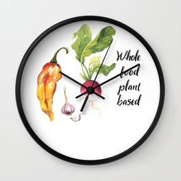 Whole Food Plant Based Wall Clock