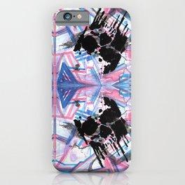 Dripping Kaleido-Skull iPhone Case