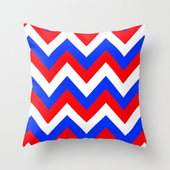AMERICAN CHEVRON Throw Pillow