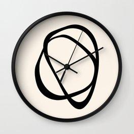 Interlocking Two CB – Minimalist Line Abstract Wall Clock