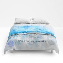 Klm Boeing 787 Dreamliner Comforters